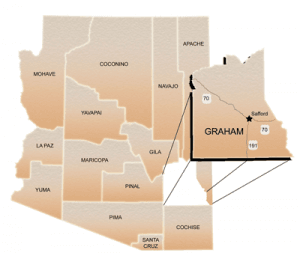 Arizona Graham Map