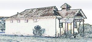 Drawing of Old Sanchez School House