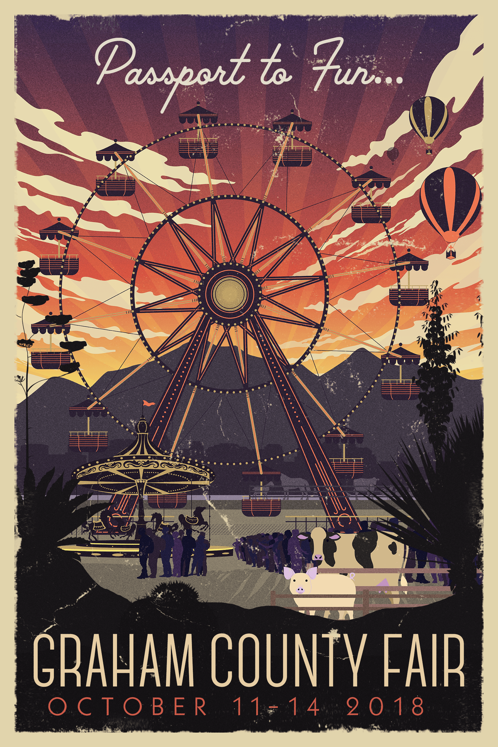 2018 Fair Travel Poster Distressed