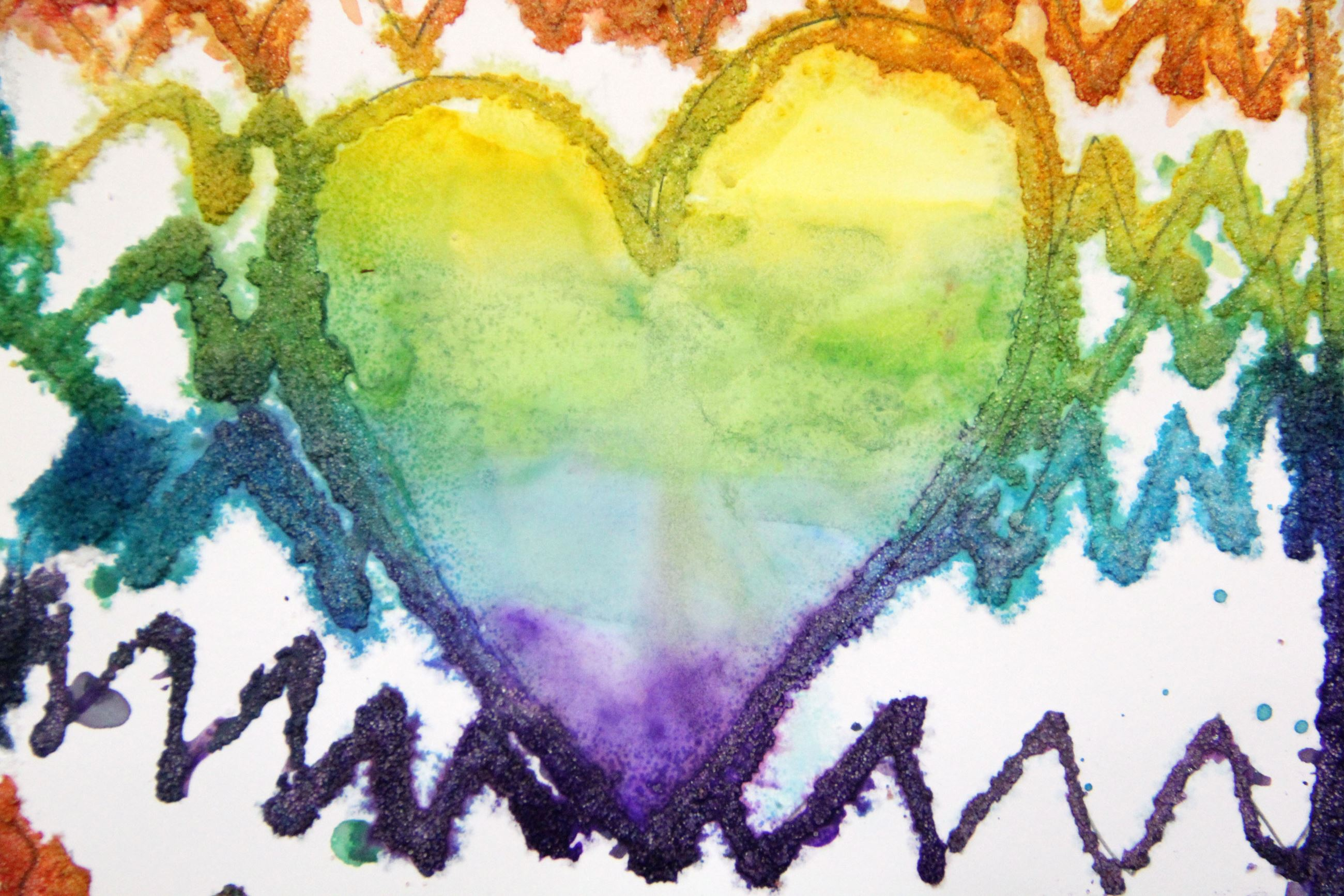 Rainbow Colored Heart