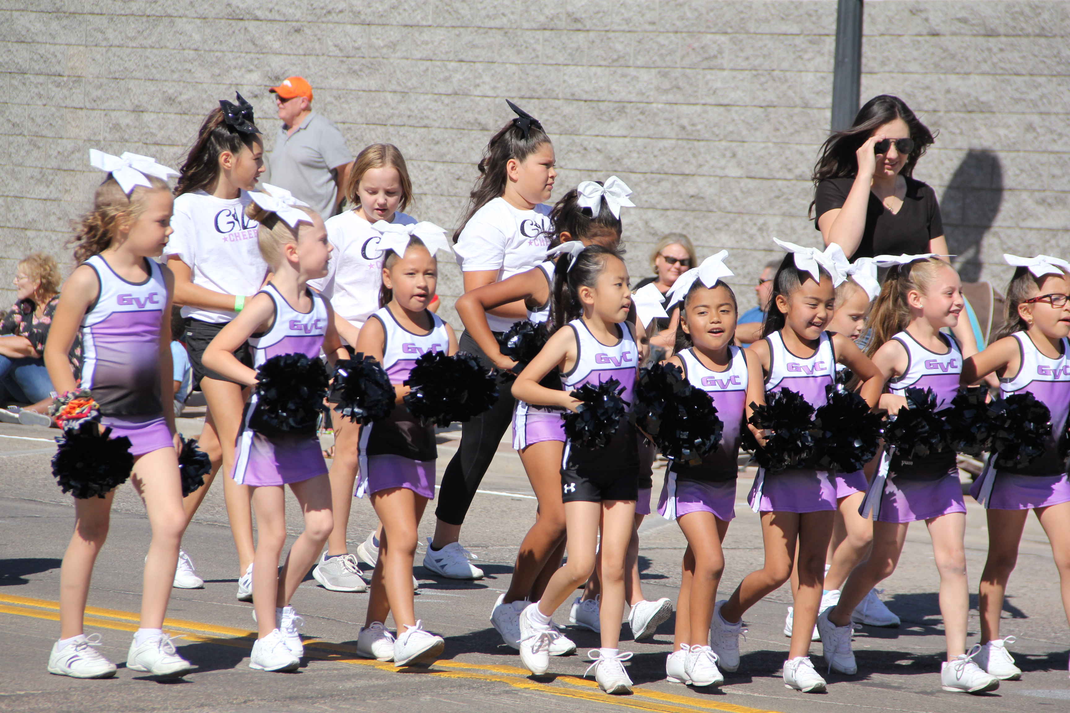 Gila Cheer girls walking